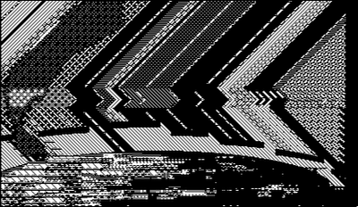 pixel art, macpaint, old school, B/W, computer art, UNTITLED 10
