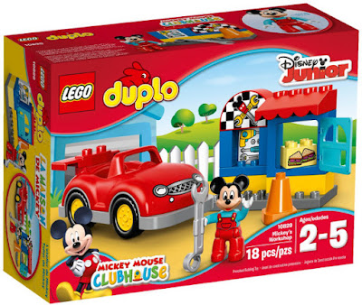 TOYS : JUGUETES - LEGO Duplo  10829 El Taller de Mickey | Mickey's Workshop  Mickey Mouse ClubHouse | Disney Junior  Producto Oficial 2016 | Piezas: 18 | Edad: 2-5 años  Comprar en Amazon España & buy Amazon USA