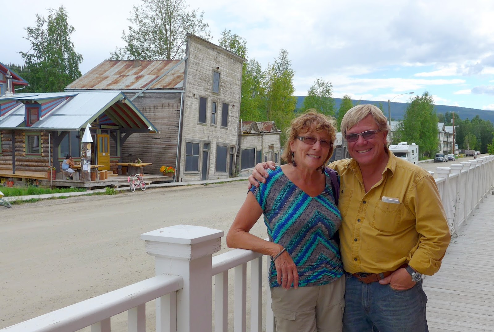 Liz and Anders in Dawson City, Yukon Territory.