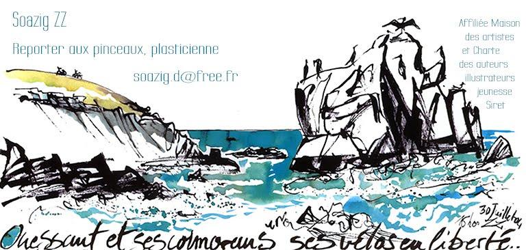 Soazig ZZ Dréano : Reporter aux pinceaux, plasticienne  & graphiste