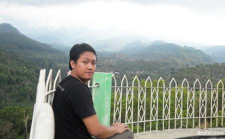 View di depan kamar hotel Karya Wisata Sanggrahan Sawahan