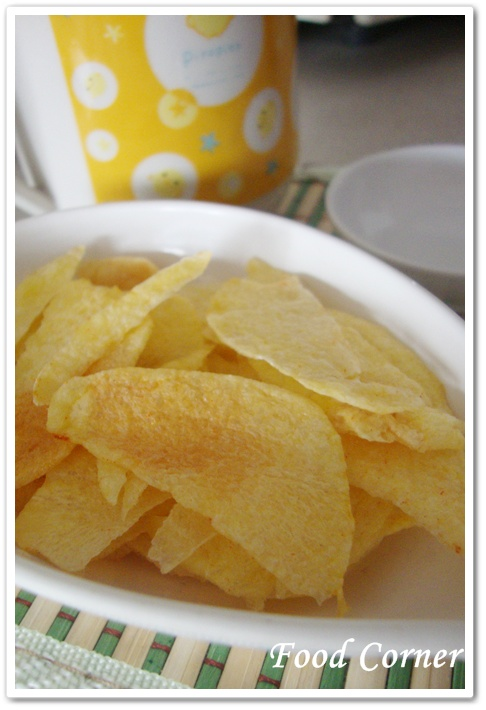 Easy Microwaved Potato Chips-Quick snack