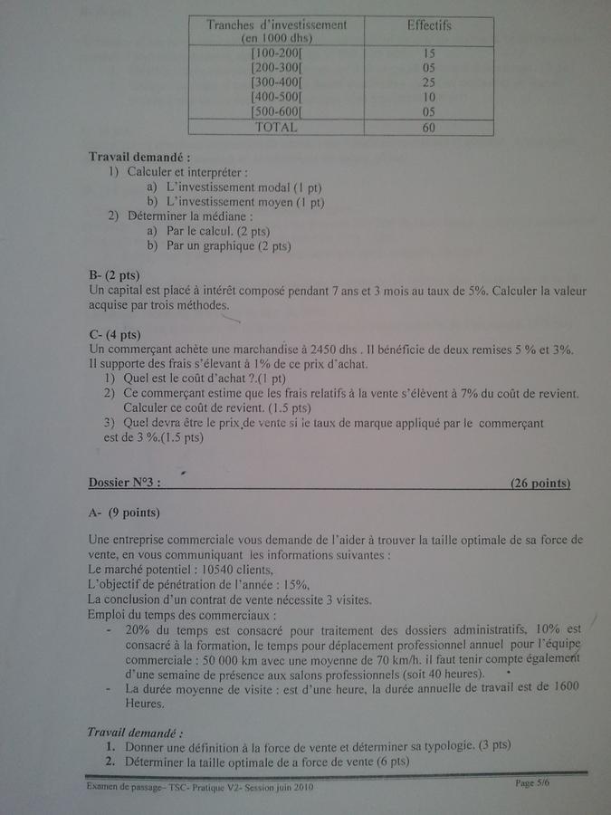 examen ista ofppt 2010 pratique   theorique