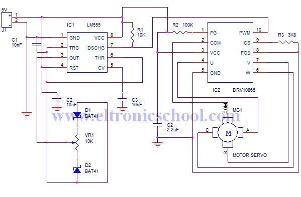 Circuit Schematic A Sensor Less Brushless Dc Motor Driver
