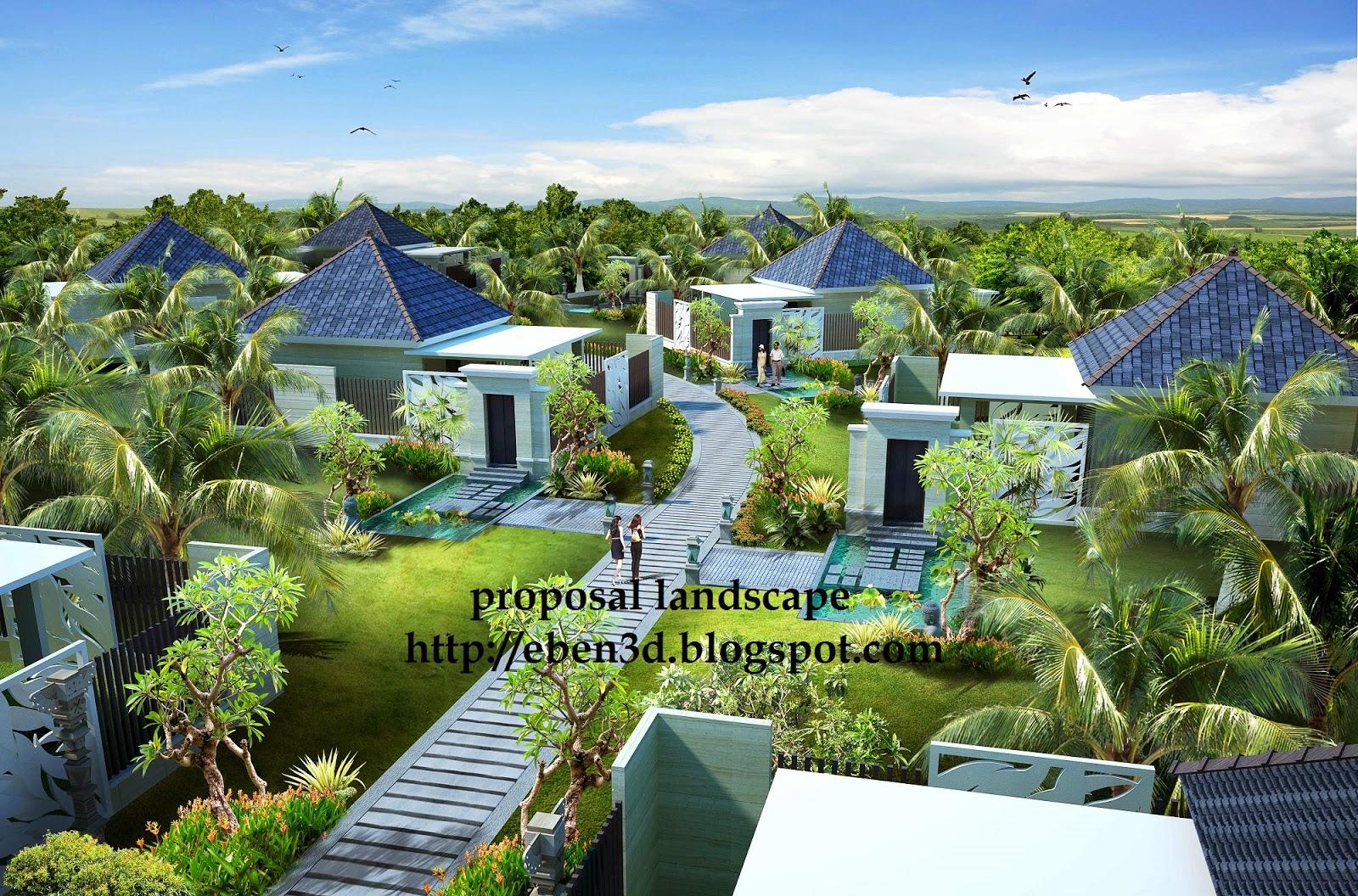 bungalow bali 3d