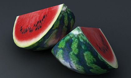 Texturing a Watermelon Using 3Ds Max Unwrap UVW