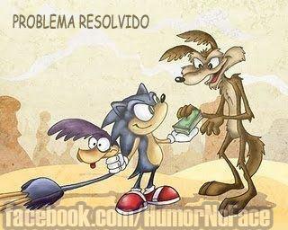 Sonic pegou a papa legoas para o coiote