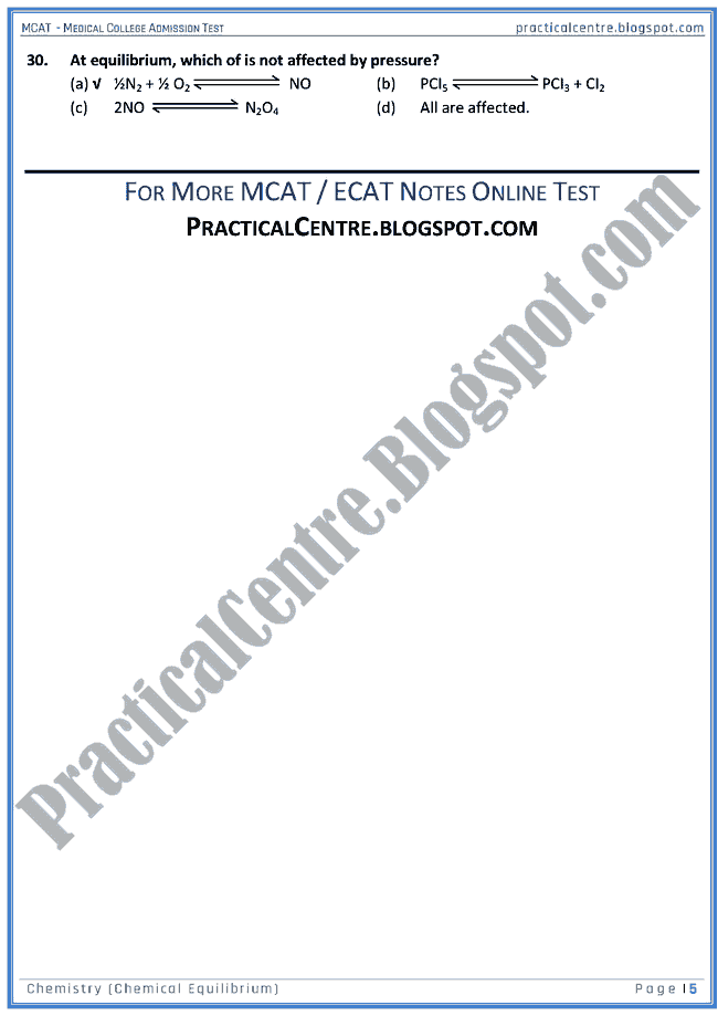 mcat-chemistry-chemical-equilibrium-mcqs-for-medical-college-admission-test