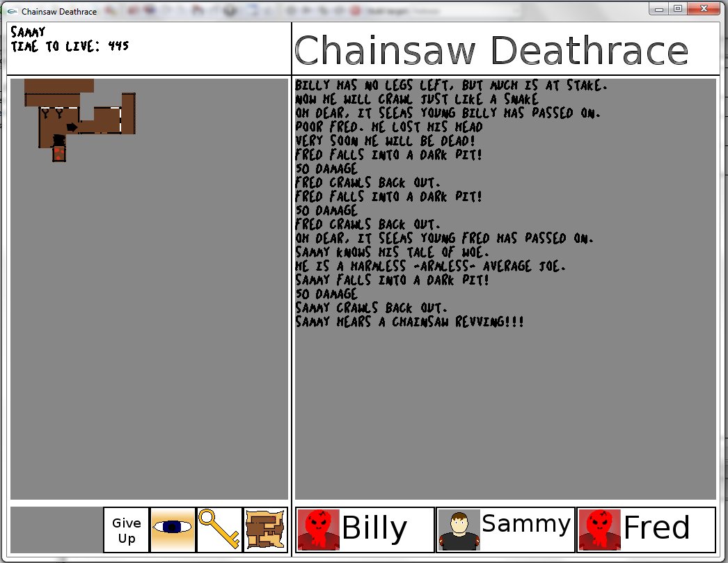 A screenshot of Chainsaw Deathrace