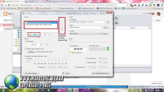cara merekam suara di pc laptop