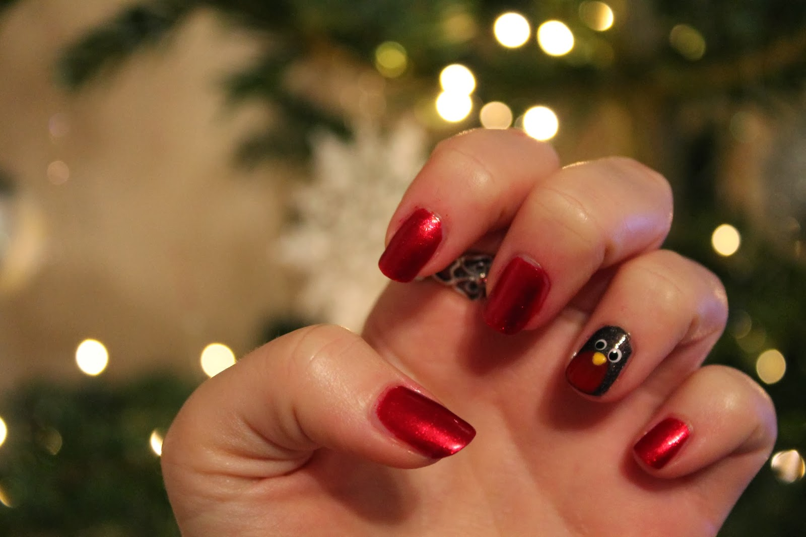 Doing My Friends Nails Robin Nail Art Gingerbread Smiles