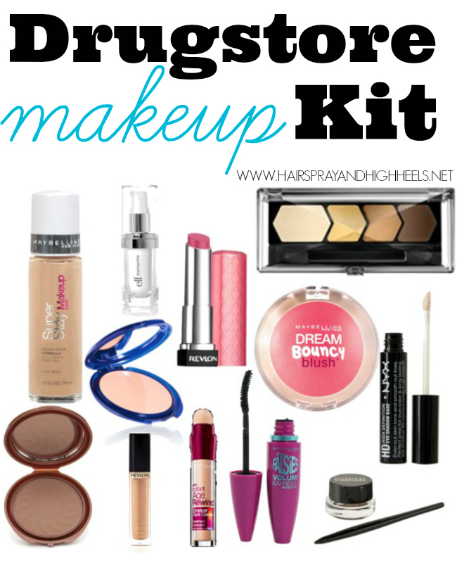 Makeup Starter Kit Drugstore Products Hairspray