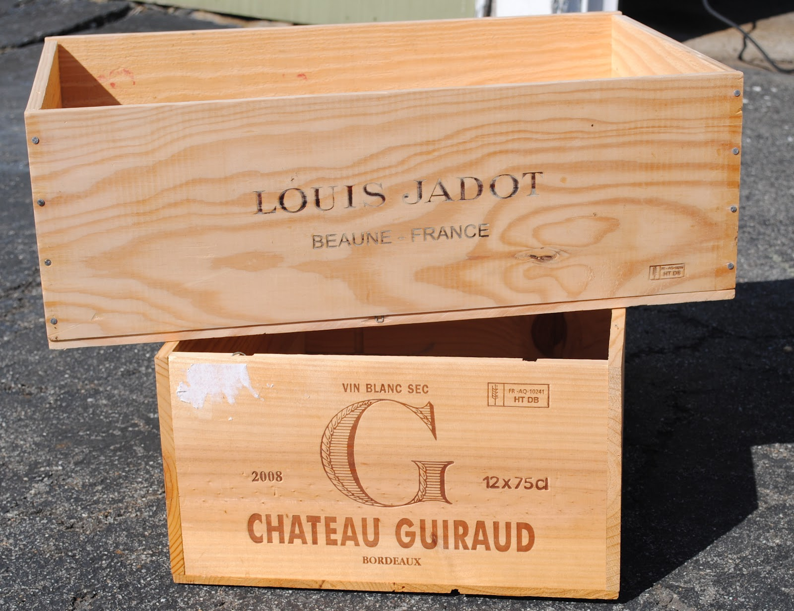 Where can i find wooden wine crates in london london for Where to buy used wine crates