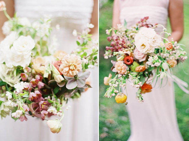 Bright wild bohemian wedding bouquet