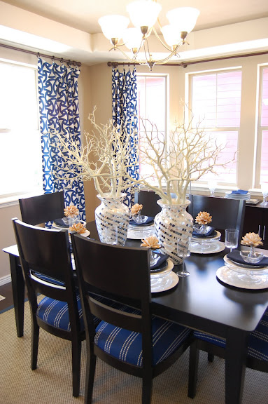 Design gal her handyman parade of homes for Navy blue dining room ideas