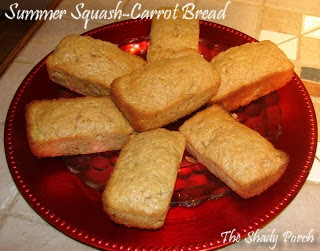 Yellow Squash Carrot Bread bread gardenharvest recipe  zucchini carrot