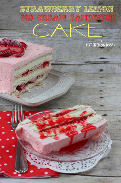 This Strawberry Lemon Ice Cream Sandwich Cake is so easy to whip up for a fun summertime dessert. It's so much better than plain ice cream!