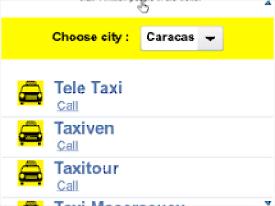 Se llema MovilTaxi, una guía rápida para solicitar un servicio de taxi en Venezuela con la cual puedes marcar el número telefónico de las diferentes compañías de taxi en tu ciudad directamente desde tu teléfono inteligente BlackBerry. MovilTaxi incluye un completo listado de las principales líneas de emergencia de cada ciudad incluyendo Caracas, Maracaibo, Táchira, Mérida, Los Teques, Barquisimeto, Coro y muchas más Fuente:lapatilla