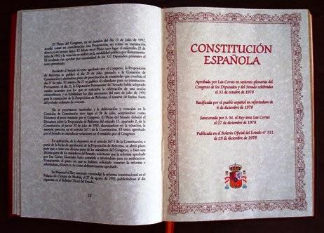 Resultado de imagen de imagenes de la cosntitución española