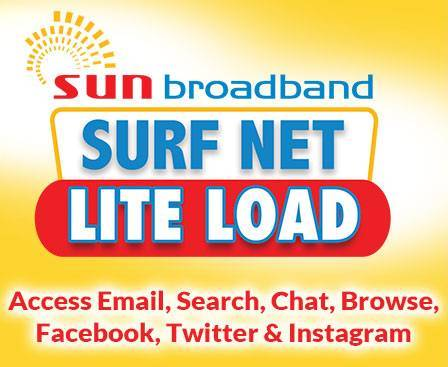 SUN, cellular, lite, load, broadband, sim, cheap, 3 days,