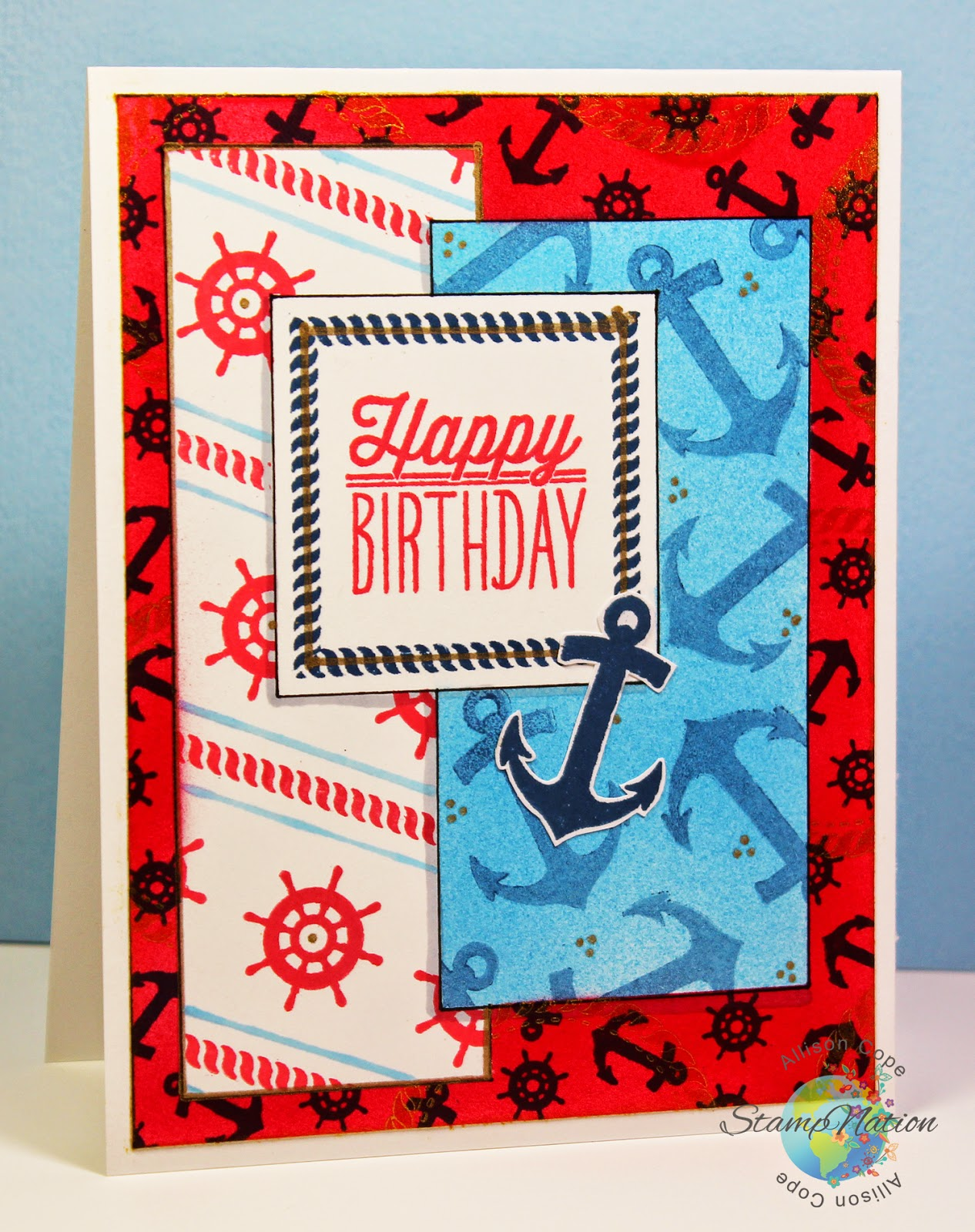 StampNation 4th Birthday Bash - Nautical Birthday by Allison Cope