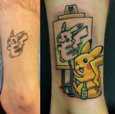 Cover Up Tatuaje : Pikachu
