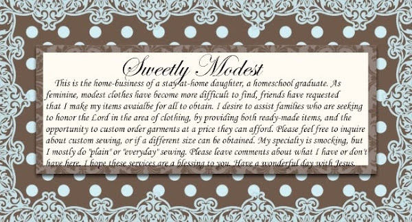 Sweetly Modest