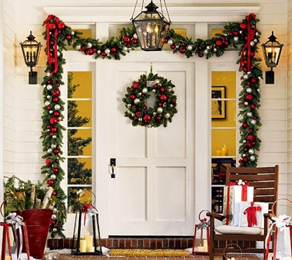 puerta decorada navidad