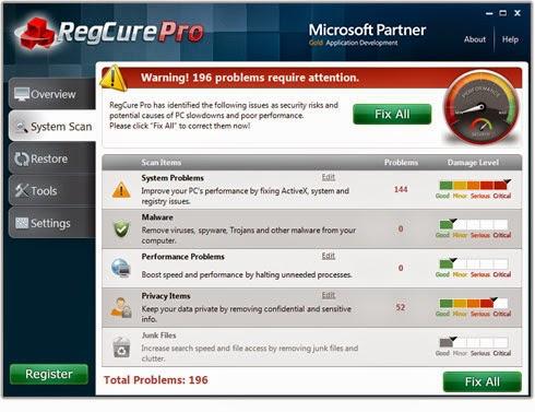 reg cure pro malware