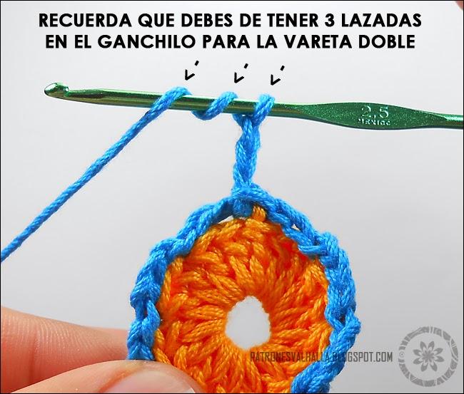 Flor de Ocho pétalos a Crochet (foto-tutorial) - PATRONES VALHALLA ...