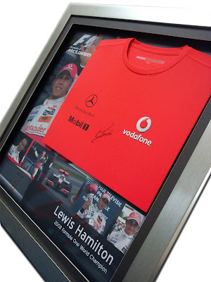Framed Lewis Hamilton Jersey Signature