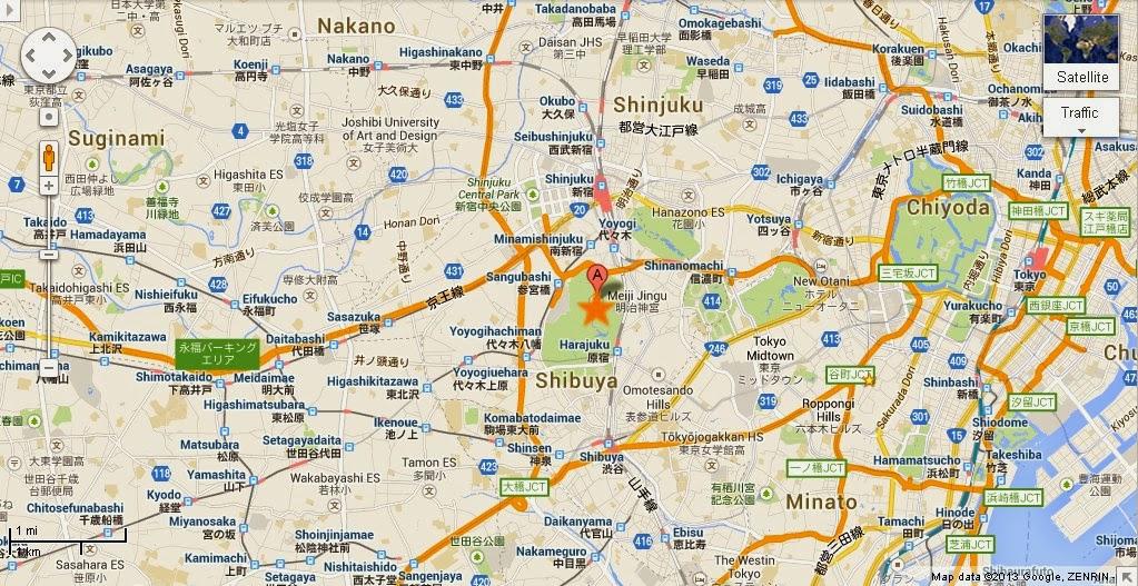 Detail Meiji JinguMeiji Shrine Tokyo Location Map – Tourist Map of Tokyo