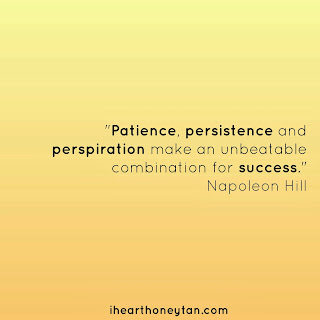 Patience, persistence and persperiation make an unbeatable combination for success Napoleon Hill Quote
