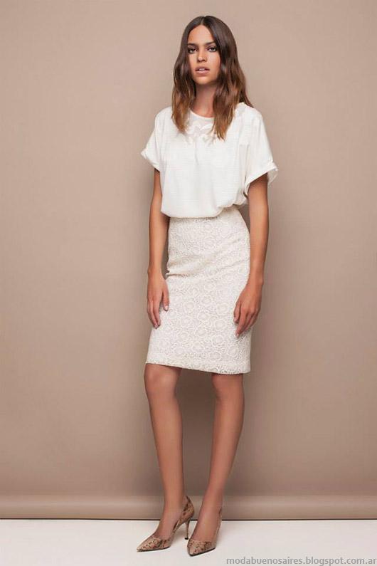 Moda mujer faldas Awada looks verano 2015.