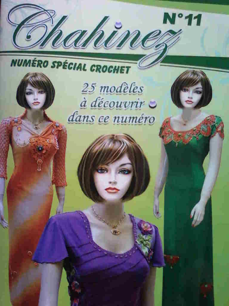 gandoura avec crochet collection magazine chahinez été 2013 partie 2