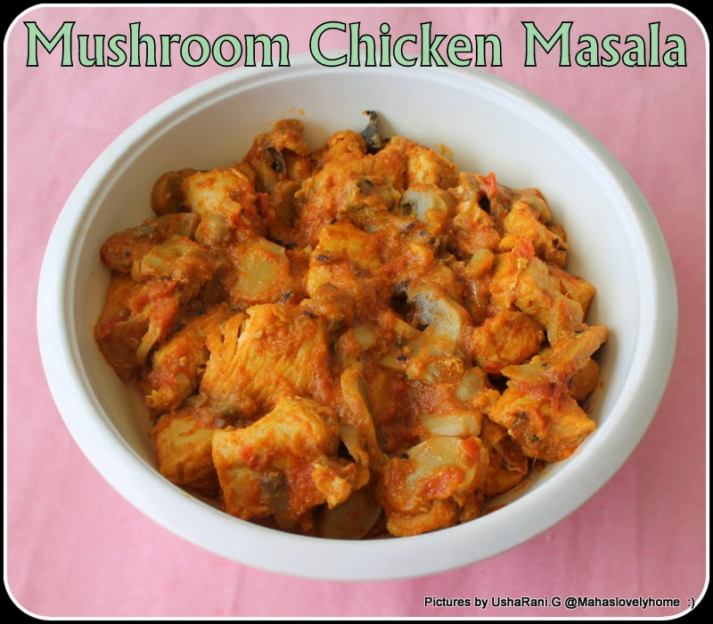 Chicken and mushrooms recipe indian