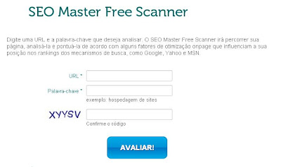 SEO Master Free Scanner Interface