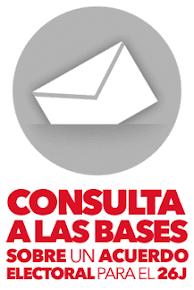 Consulta a las bases sobre un posible acuerdo para las elecciones del 26J