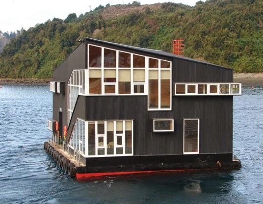 desain arsitektur floating house