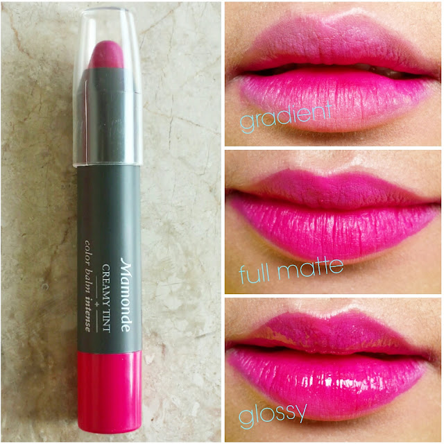 Image of Mamonde Creamy Tint Color Balm Intense Korean Make-Up - pinknomenal.blogspot.com