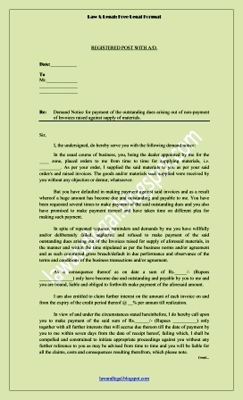 Lawandlegal format notice of demand format notice of demand thecheapjerseys Choice Image