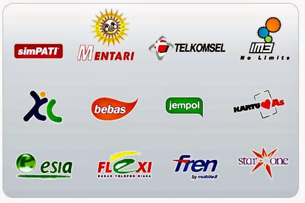 ... Simpati AS Indosat IM3 Mentari Tri Flexi ESIA StarOne Smart Fren