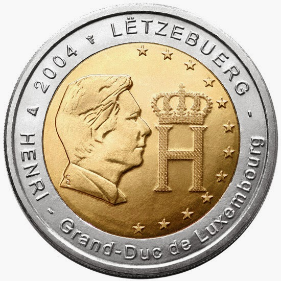 2 euro commemorative coins Luxembourg 2004 Grand Duke Henri