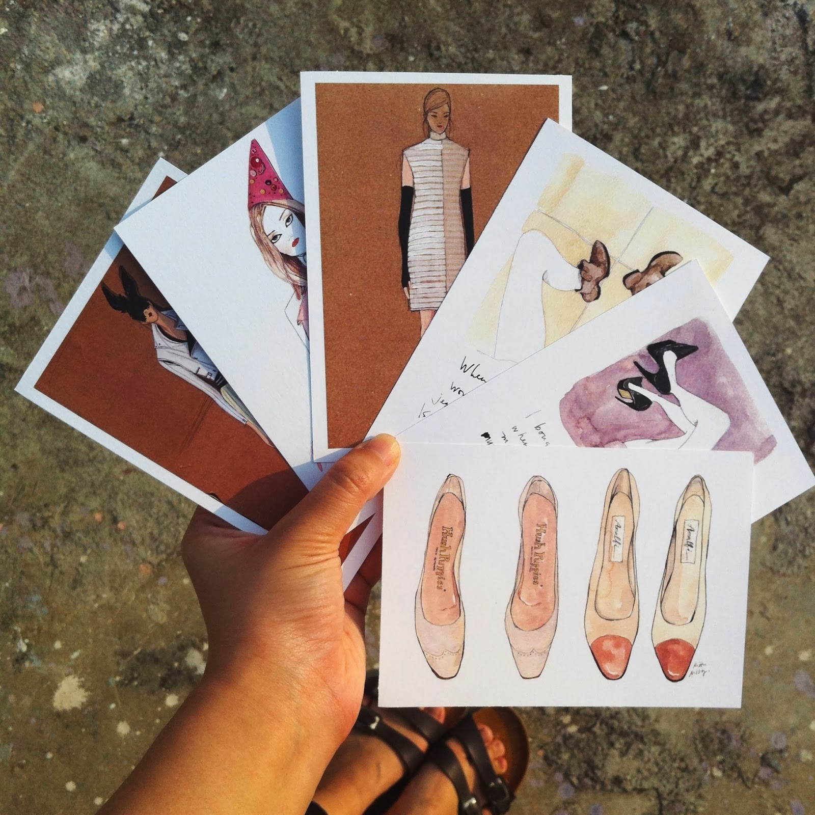 Kitty N. Wong / illustrated fashion art postcards miniprints