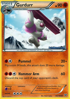 Gurdurr Pokemon X and Y Card