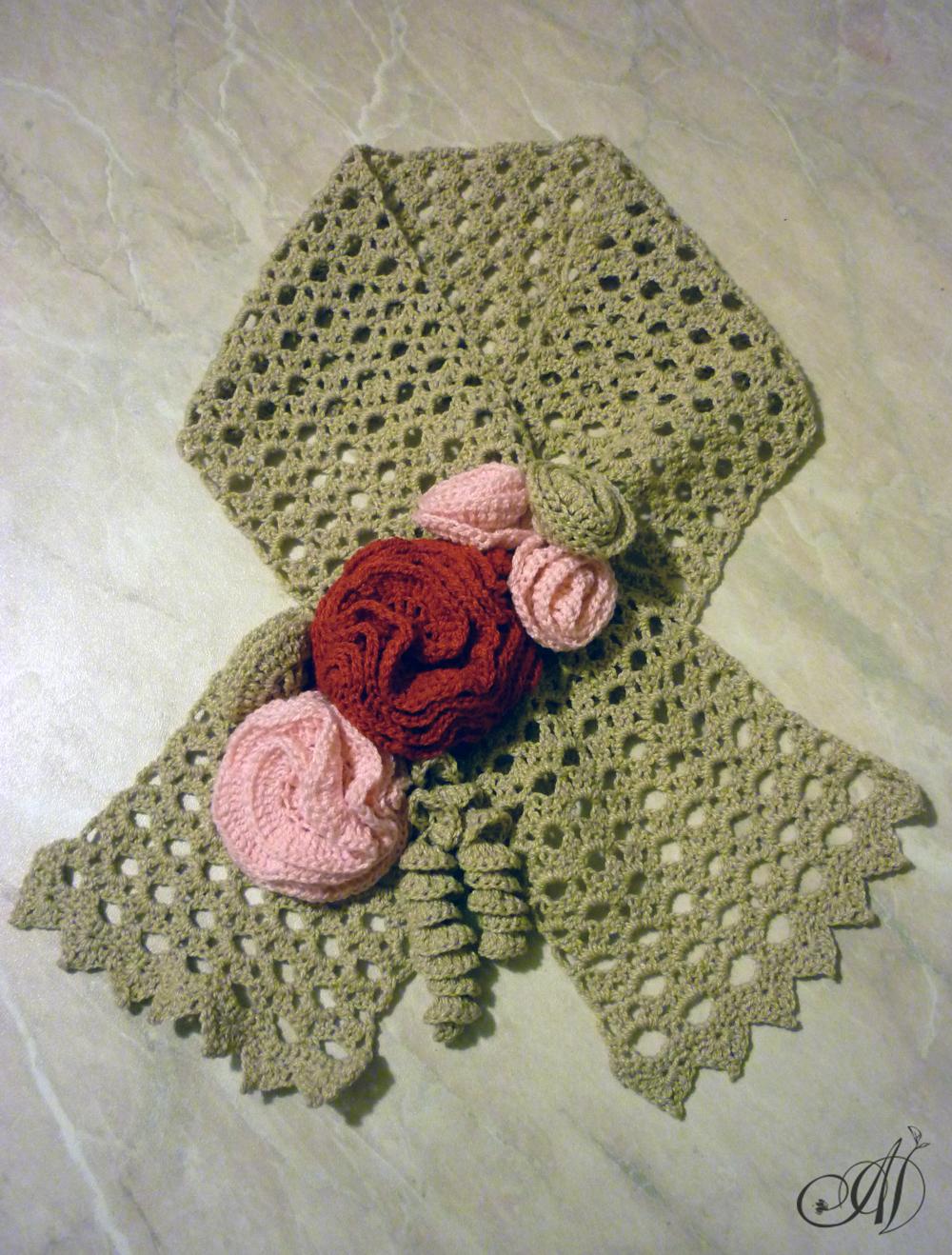Фото шарфов связанных крючком