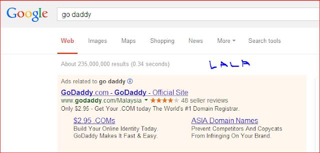 Harga Domain .COM Semurah RM10 Untuk Setahun