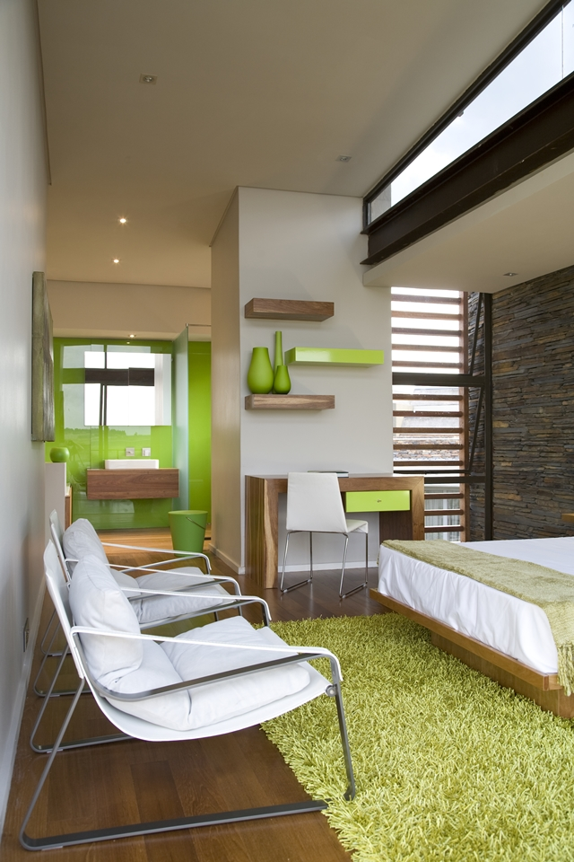 Modern chairs in the bedroom