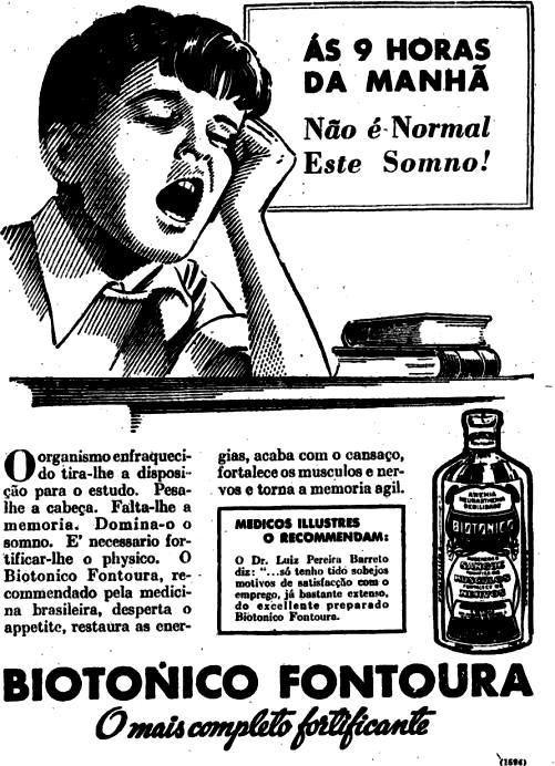 Propaganda antiga do Biotônico Fontoura para animar as crianças em 1938.
