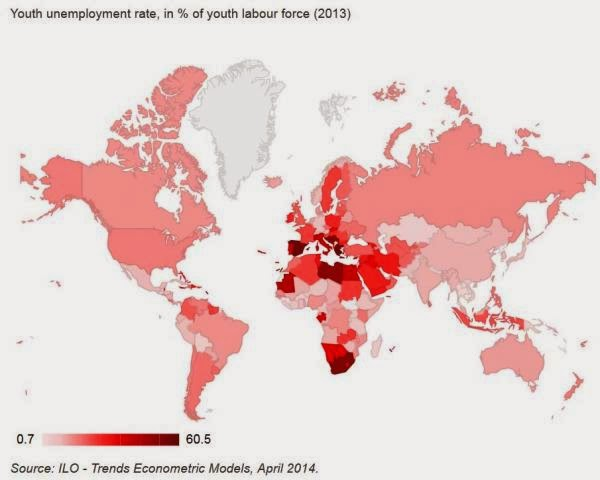 Chart Of The Day: Global Youth Unemployment